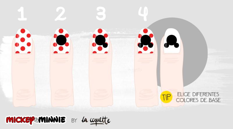 Nail art #9 ~ Mickey & Minnie | CocolaCoquette.com