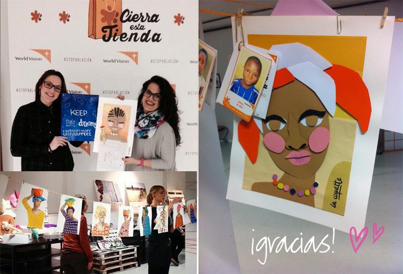 Estas chicas tan adorables ya han comprado algunas de mis ilustraciones para parar la ablación :)
