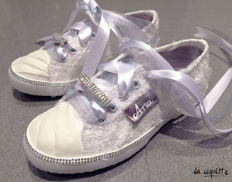 Custom Wedding Sneakers After by la Coquette
