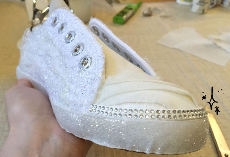 Custom Wedding Sneakers crystals