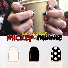 Nail Art 9 Minnie Mickey