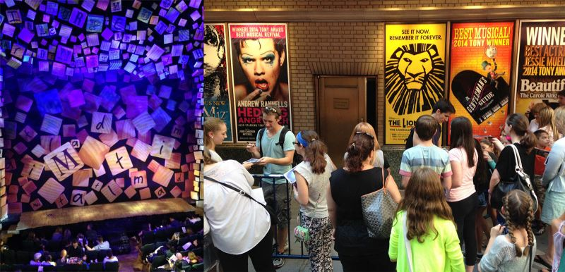 Shubert Alley Matilda The Musical Broadway NYC