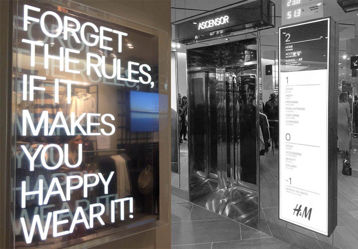 Plantas de H&M flagship Barcelona