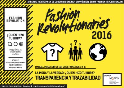 Fashion Revolutionaries 2016 Transparencia y Trazabilidad