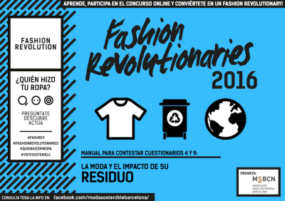 Fashion Revolutionaries 2016 Residuo