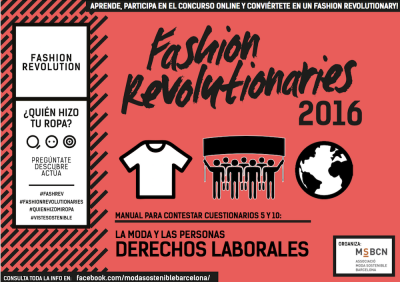 Fashion Revolutionaries 2016 Derechos Laborales