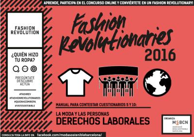 Fashion Revolutionaries 2016 Derechos Laborales
