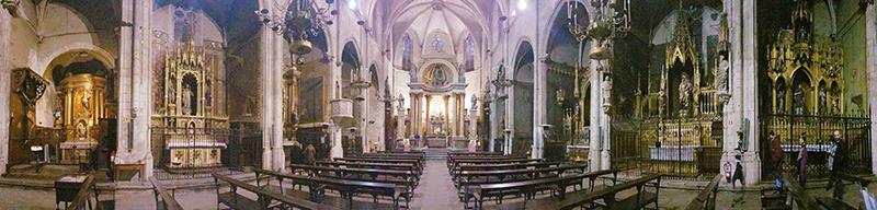 La Basílica de los santos Justo y Pastor en Barcelona ha servido de escenario para numerosas películas