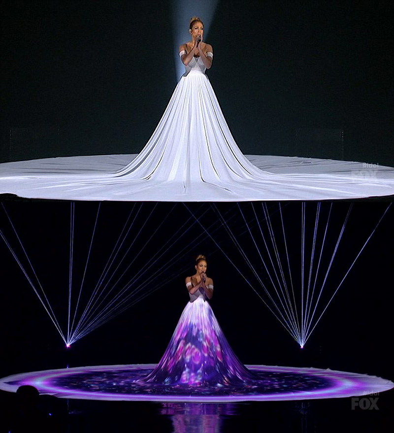 JLO dress Feel The Light