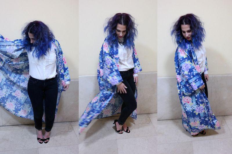 Yukata Kimono de verano de Midori International - Kimono Tokyo Blues by la Coquette