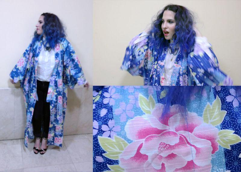 Yukata Midori International - Kimono Tokyo Blues by la Coquette