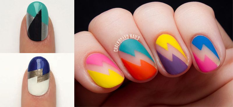 Nail Art geométrico